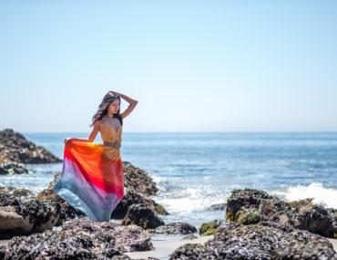 Diana Huntley - Champagne Twilight - Anthropologie Setting Sun Maxi Dress 3