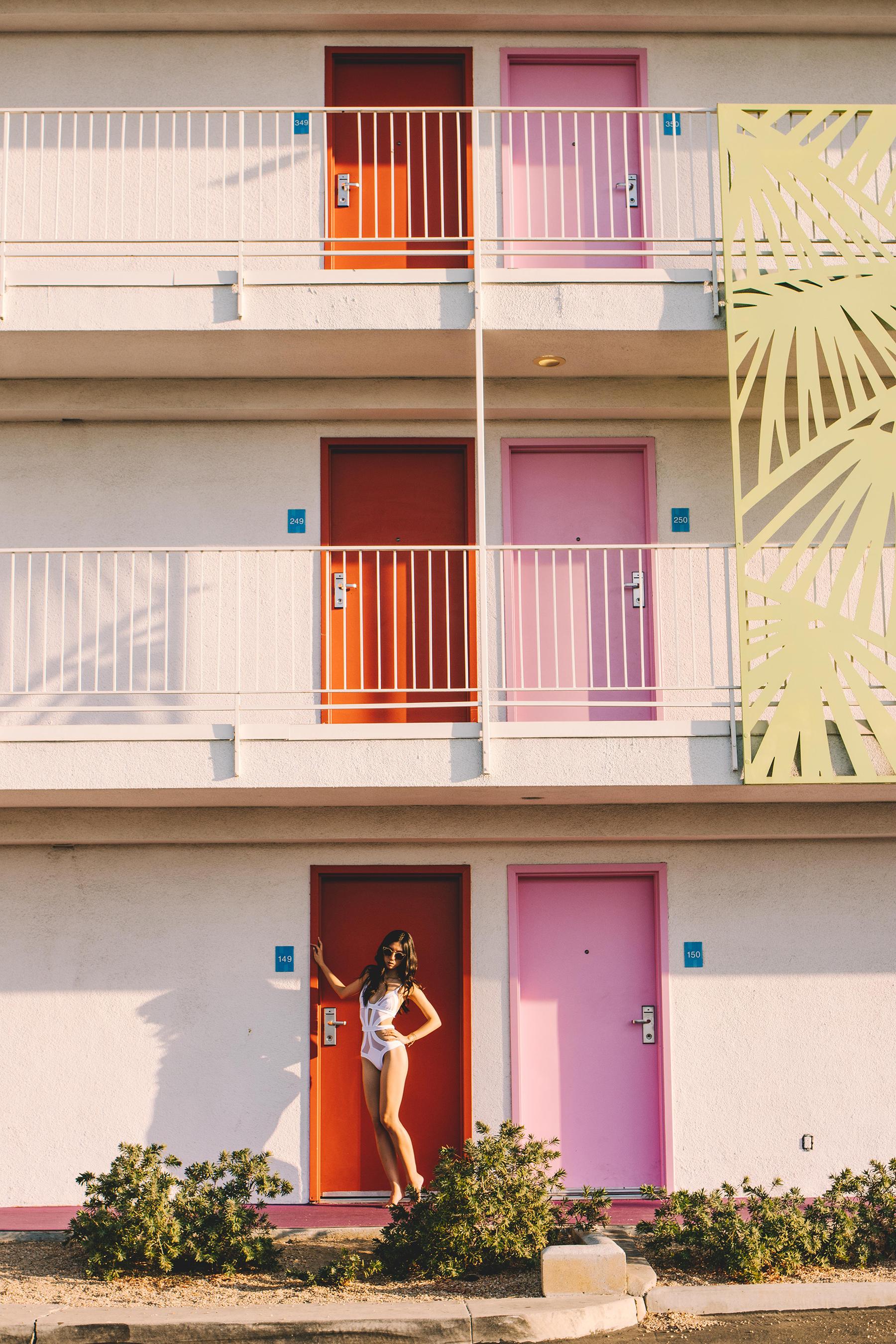 Diana Huntley - Champagne Twilight - Palm Springs - Kopper And Zink - White Swimwear 7