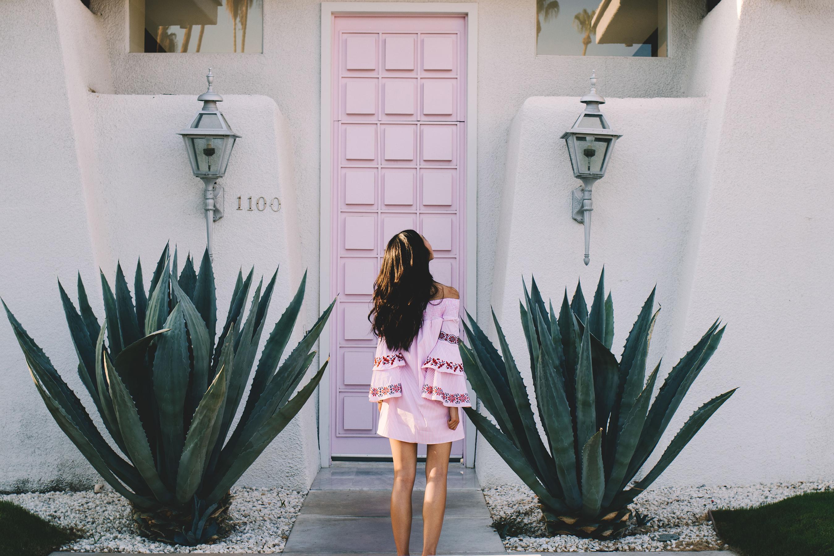 Diana Huntley - Champagne Twilight - Palm Springs - Vava Joy Han Beatrice Dress